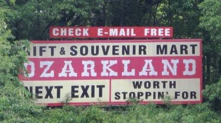 Ozarkland sign near Kingdom City, Missouri