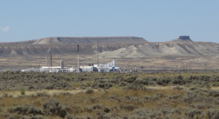 Oil terminal in central Wyoming