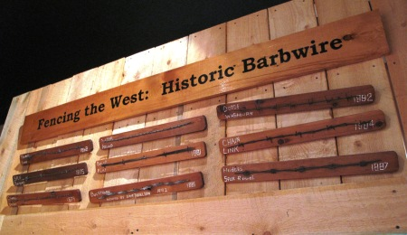 Barbed wire exhibit at Fort Bridger State Historic Site