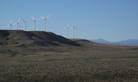 Wind-turbines in southern Wyoming