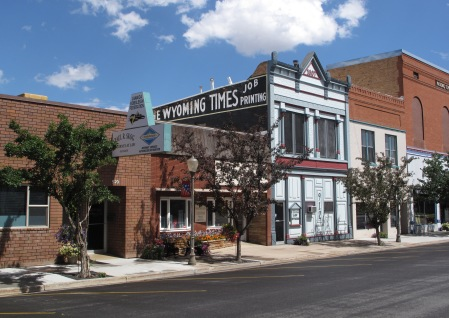 Main Street in Evanston, Wyoming