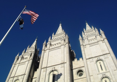 Salt Lake Temple in Salt Lake City, Utah