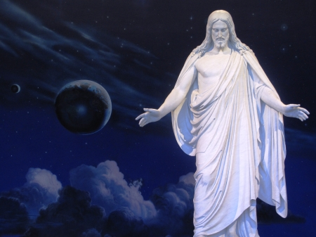 Statue of Christ at Salt Lake Temple visitor centre