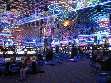 Inside the Montego Bay Casino in West Wendover, Nevada