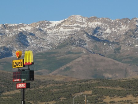 McDonald's sign by the Ruby Mountains, Nevada