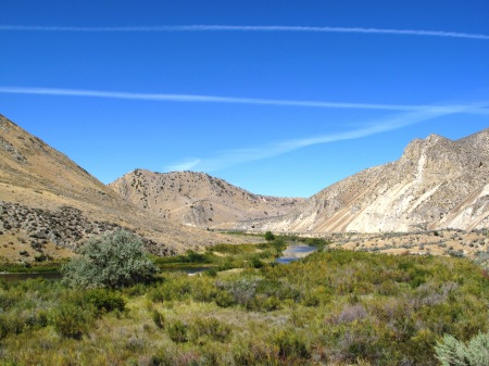The Humboldt River in Carlin Canyon, Nevada