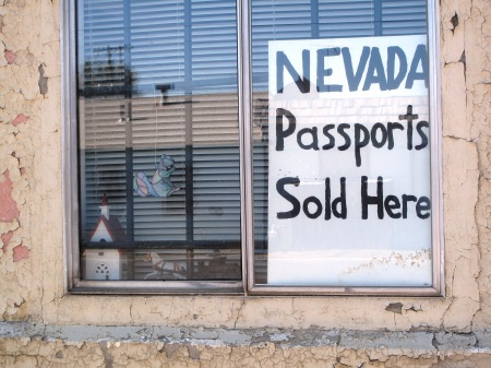 Nevada passports notice in Battle Mountain